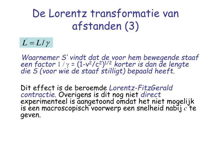 De Lorentz transformatie van afstanden (3)
