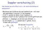 doppler verschuiving 2