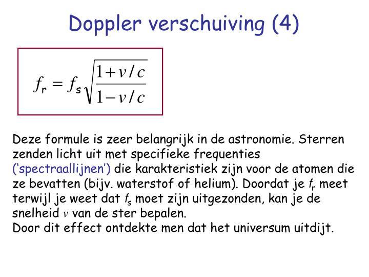 Doppler verschuiving (4)