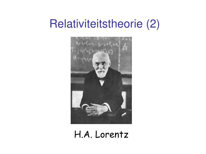 Relativiteitstheorie (2)