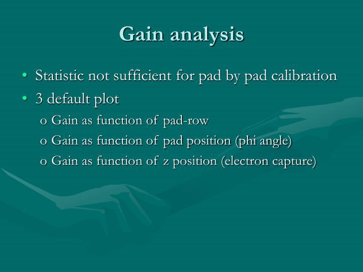 Gain analysis