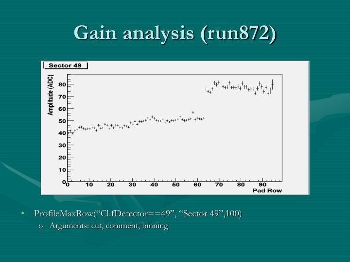 Gain analysis (run872)