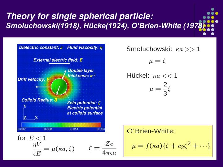 Theory for single spherical particle: