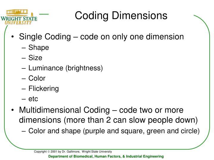 Coding Dimensions