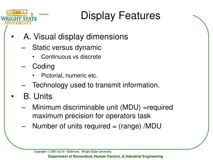 Display Features
