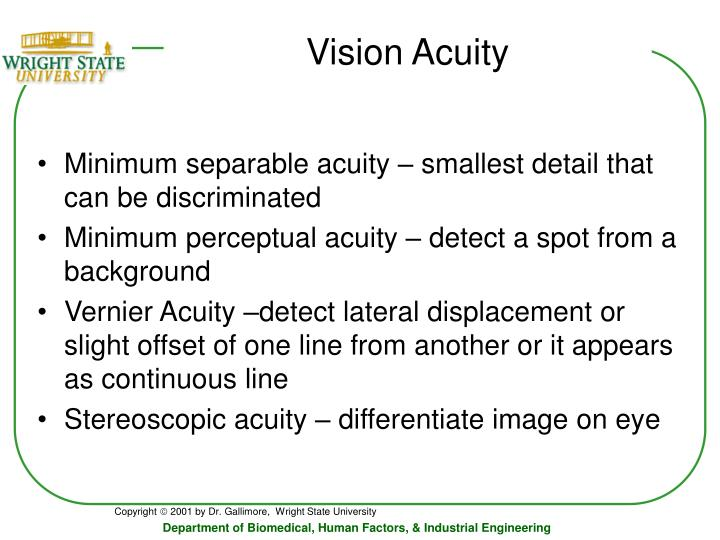Vision Acuity