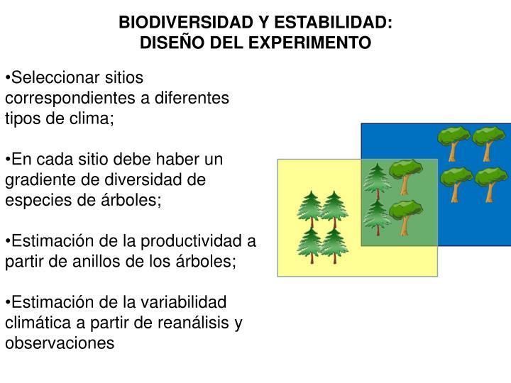 BIODIVERSIDAD Y ESTABILIDAD:
