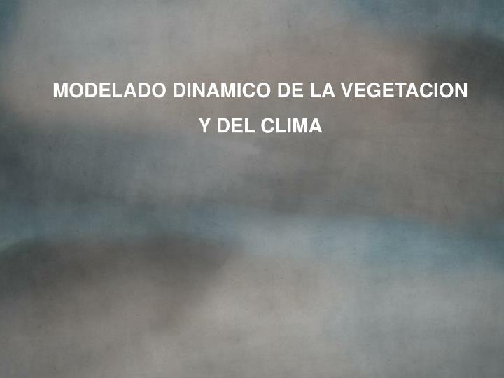 MODELADO DINAMICO DE LA VEGETACION