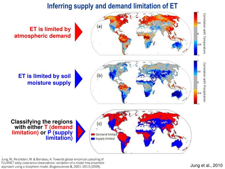 Inferring supply and demand limitation of ET