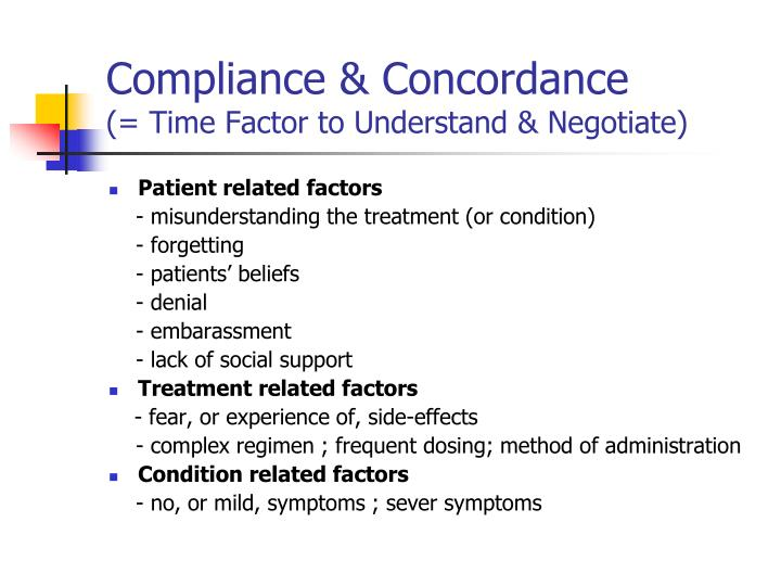 Compliance & Concordance