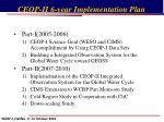 ceop ii 6 year implementation plan