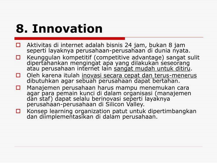 8. Innovation