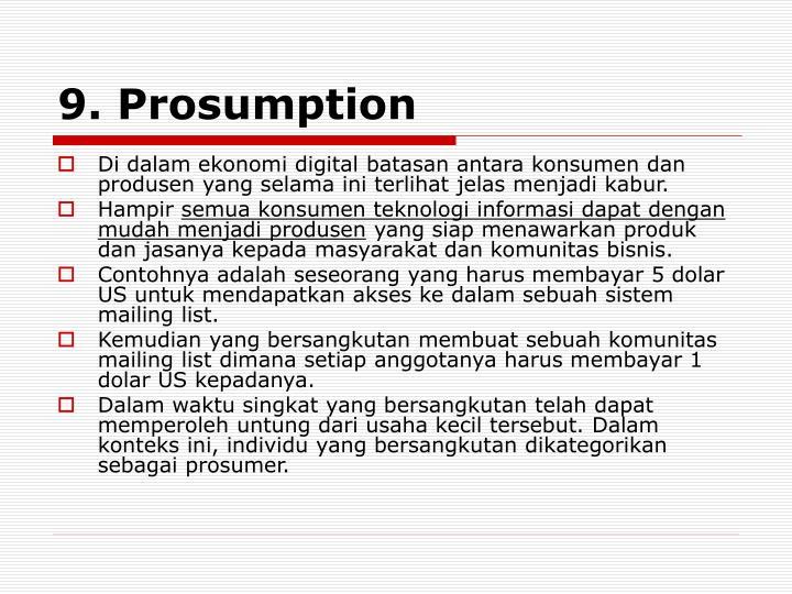 9. Prosumption