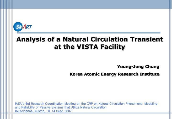 analysis of a natural circulation transient at the vista facility