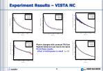 experiment results vista nc