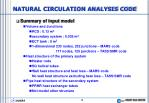 natural circulation analysis code5