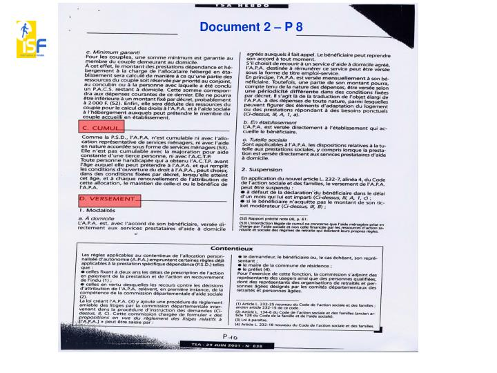 Document 2 – P 8
