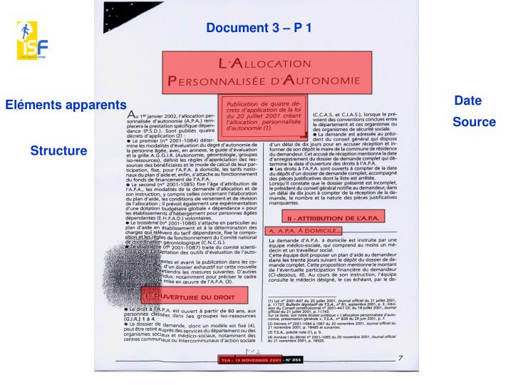 Document 3 – P 1