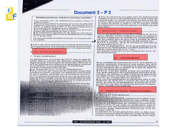 Document 3 – P 3