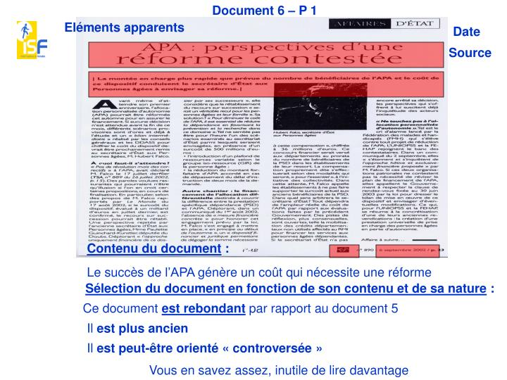 Document 6 – P 1