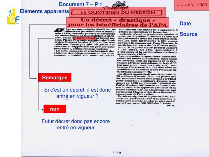 Document 7 – P 1