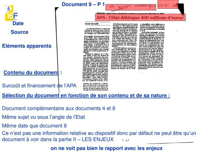 Document 9 – P 1