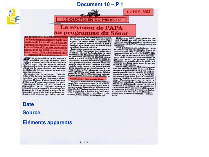 Document 10 – P 1