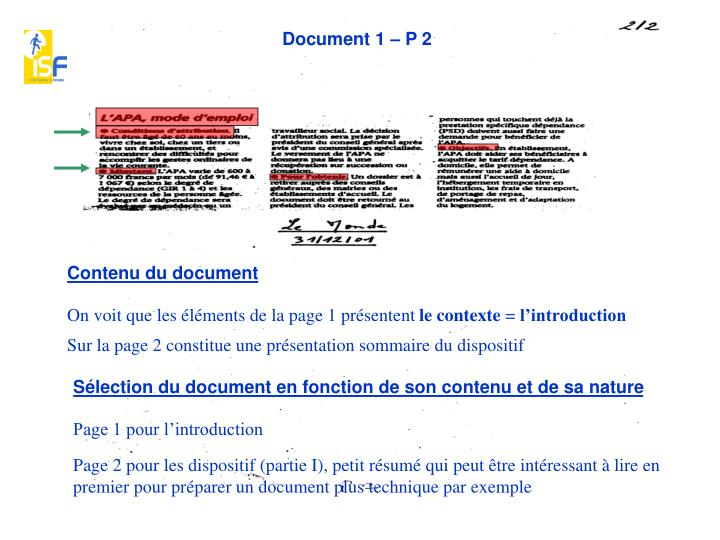 Document 1 – P 2