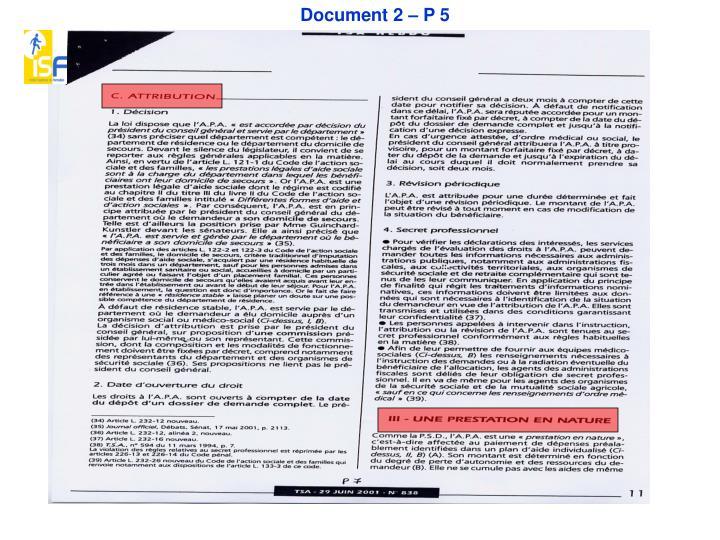 Document 2 – P 5