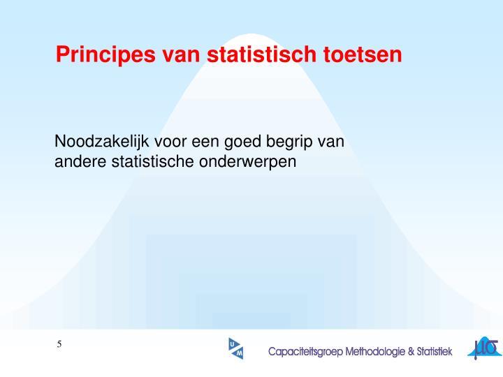 Principes van statistisch toetsen