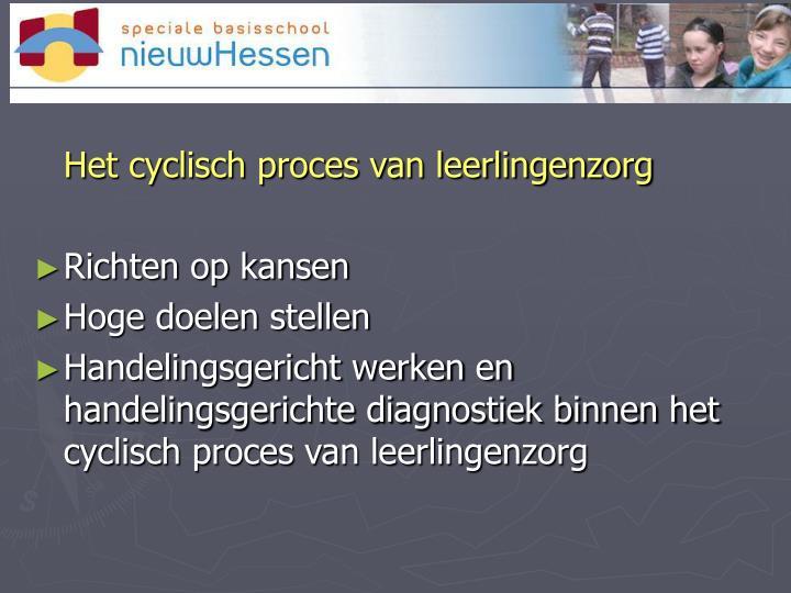 Het cyclisch proces van leerlingenzorg