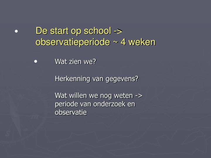 De start op school ->