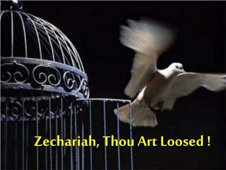 Zechariah, Thou Art Loosed !