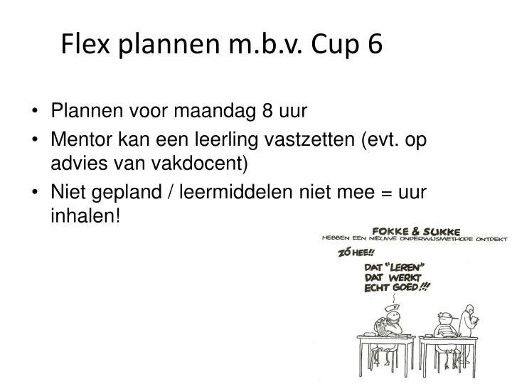 Flex plannen m.b.v. Cup 6