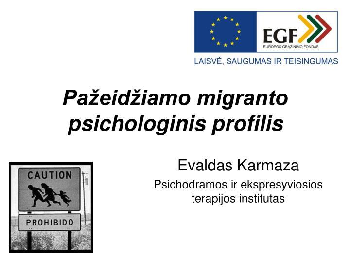 Pažeidžiamo migranto psichologinis profilis
