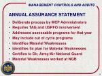 annual assurance statement