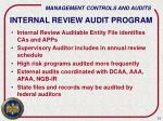 internal review audit program