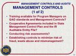management controls 1 of 2