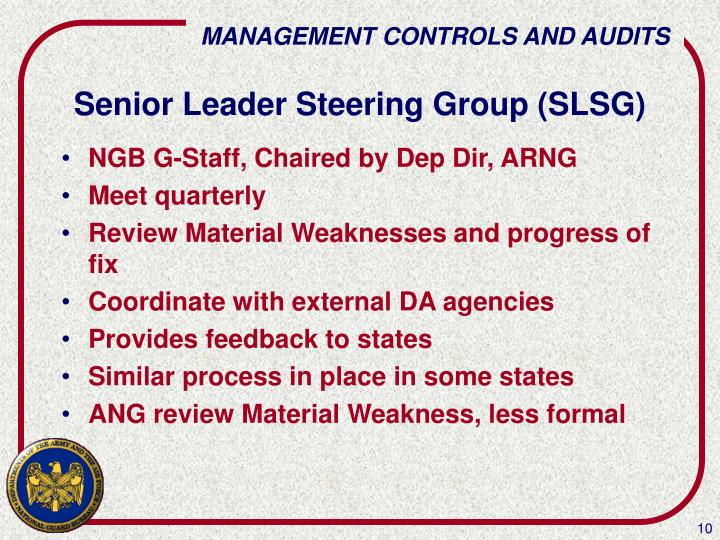 Senior Leader Steering Group (SLSG)