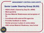 senior leader steering group slsg