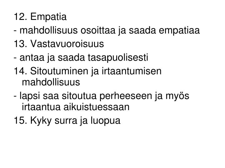 12. Empatia