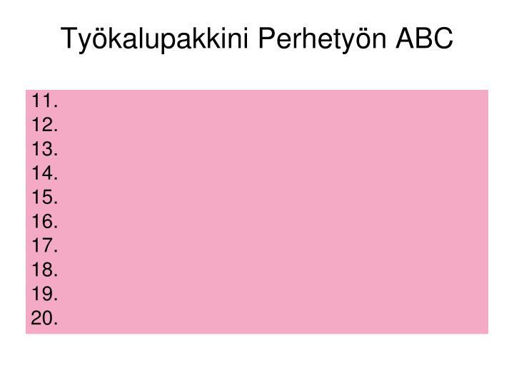 Työkalupakkini Perhetyön ABC