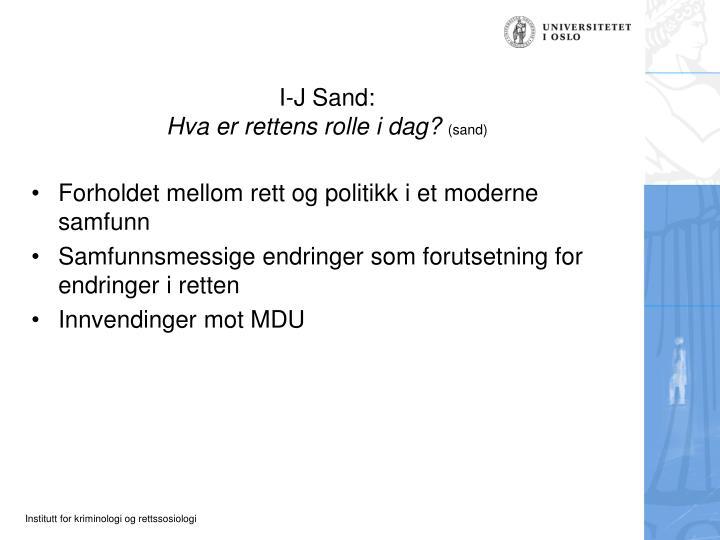 I-J Sand: