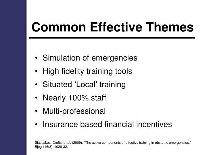 Common Effective Themes