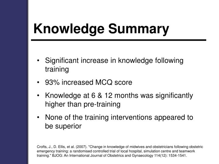 Knowledge Summary