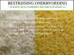 bestrijding ondervoeding golden rice verrijkt met provitamine a