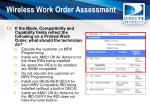 wireless work order assessment12