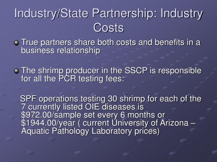 Industry/State Partnership: Industry Costs