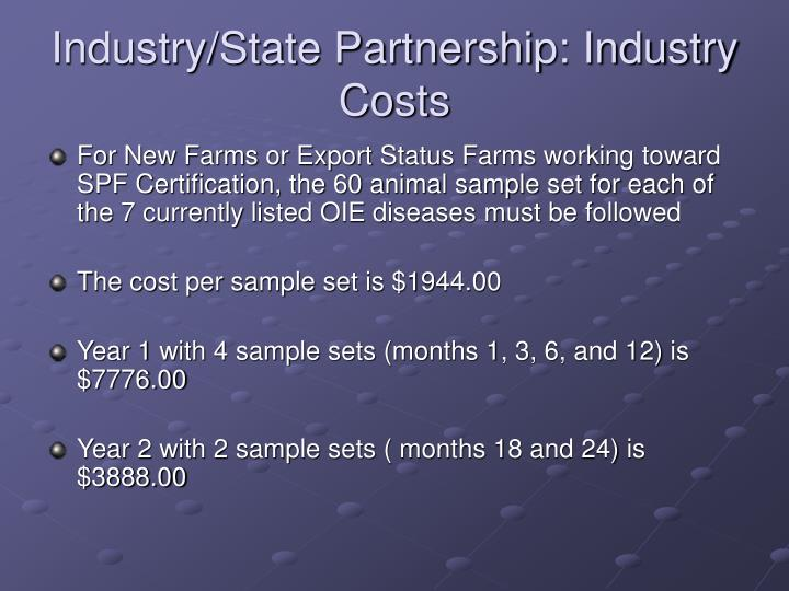 Industry/State Partnership: Industry