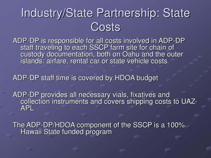 Industry/State Partnership: State Costs